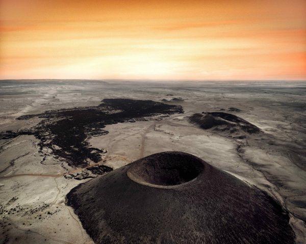 Cinder Cone Volcano, San Francisco Peaks, Aeriel Sunset, April 17, 2017