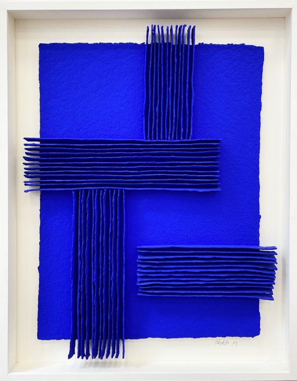 8 - Calicots et pigment bleu outremer
